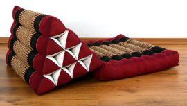 Thaikissen, Dreieckskissen *rot / schwarz*