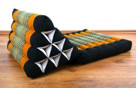 Thaikissen, Dreieckskissen *schwarz / orange*