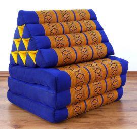 Thaikissen, Sitz- Liegekissen, Dreieckskissen  *blau - gelb*