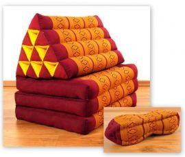 Thaikissen, Sitz- Liegekissen, Dreieckskissen  *rot - gelb*  Set