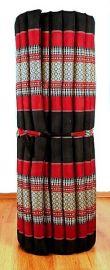 Thailändische Liegematte  *schwarz / rot*  Gr.L
