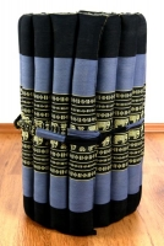 Thaimatte, Rollmatte, Liegematte  *blau / Elefanten*  Gr.S