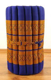 Thaimatte, Rollmatte, Liegematte  *blau / gelb*  Gr. S