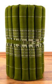 Thaimatte, Rollmatte, Liegematte  *grün / Elefanten*  Gr.S
