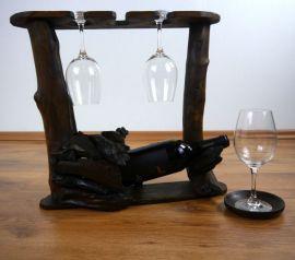 Weinflaschenhalter  *Flasche und Gläser*