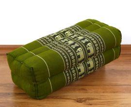 Yogakissen, Blockkissen  *grün / Elefanten*