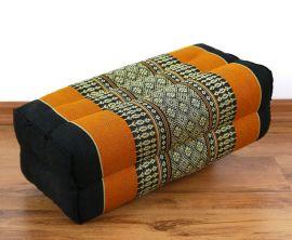 Yogakissen, Blockkissen  *schwarz / orange*