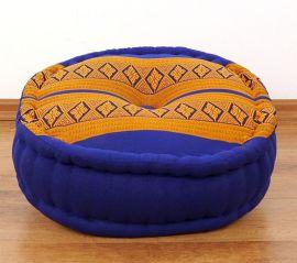 Zafukissen, Meditationskissen  *blau / gelb*