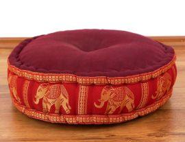 Zafukissen, Meditationskissen  *hellrot / Elefanten*