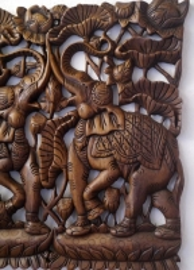 Zauberhaftes  *Elefantenrelief*  aus Thailand